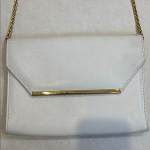 Jennifer Moore Leather Clutch Crossbody Handbag
